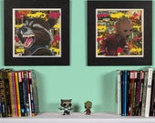 Guardians - Rocket Racoon & Baby Groot High Quality Print Set