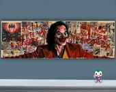 "Smile - 12"" x 36"" Original Oil Painting of Joaquin Phoenix Joker"