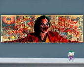 "Smile - 12"" x 36"" Original Oil Painting of Joaquin Phoenix Joker"
