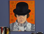 "Milk + - 30"" x 24"" Original Oil Painting of Alex from A Clockwork Orange -"