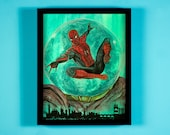 """Far From Home - 11"""" x 14"""" Mixed media illustration on Water color paper - FRAME NOT INCLUDED"""