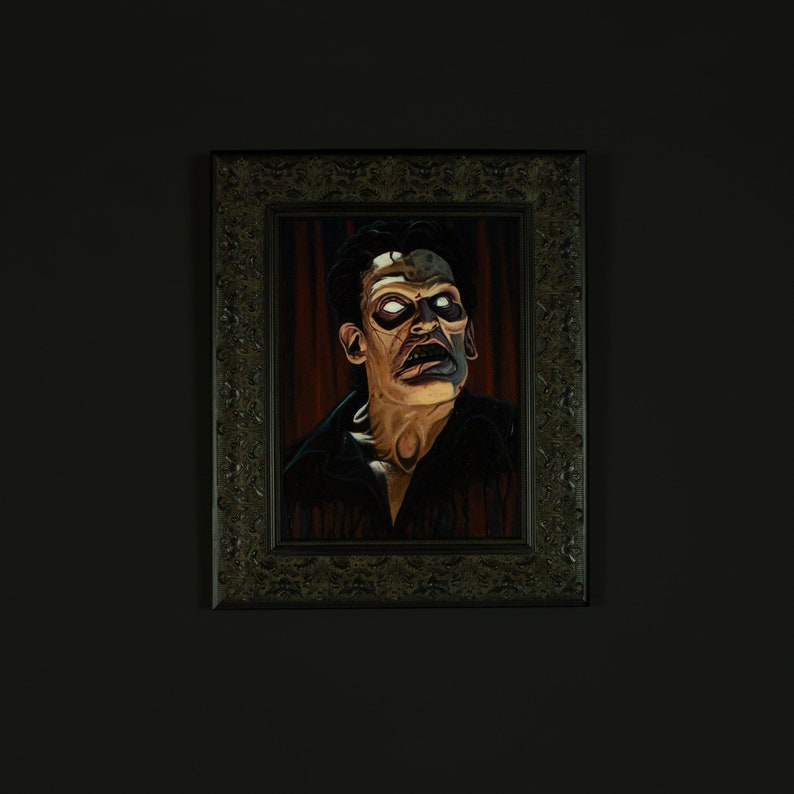 Evil Ash  12 x 16 Original Oil Painting image 0