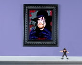"""Undertaker - 12"""" x 16"""" Original Oil painting on masonite board - FRAME NOT INCLUDED"""