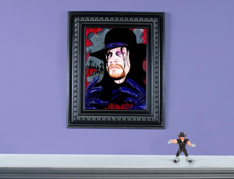 Undertaker  12 x 16 Original Oil painting on image 0