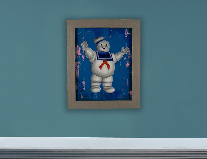 Stay Puft   11 x 14 Original Oil Painting image 1