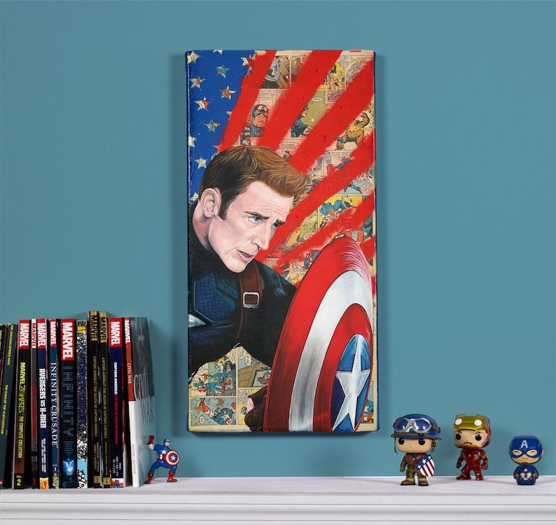 Civil War  Captain America   12 x 24 Original image 0
