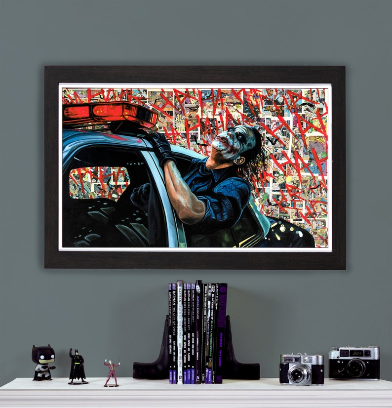 Heath Ledger Joker  High Quality 18 x 30 Giclee image 0