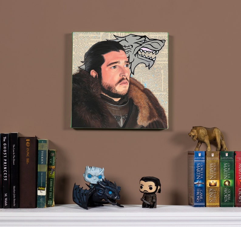 Jon Snow  Original oil painting image 0