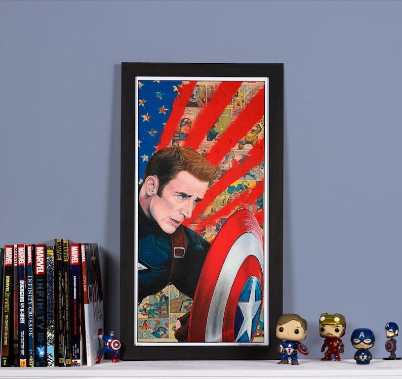 Civil War: Freedom  High quality print of Captain America image 0