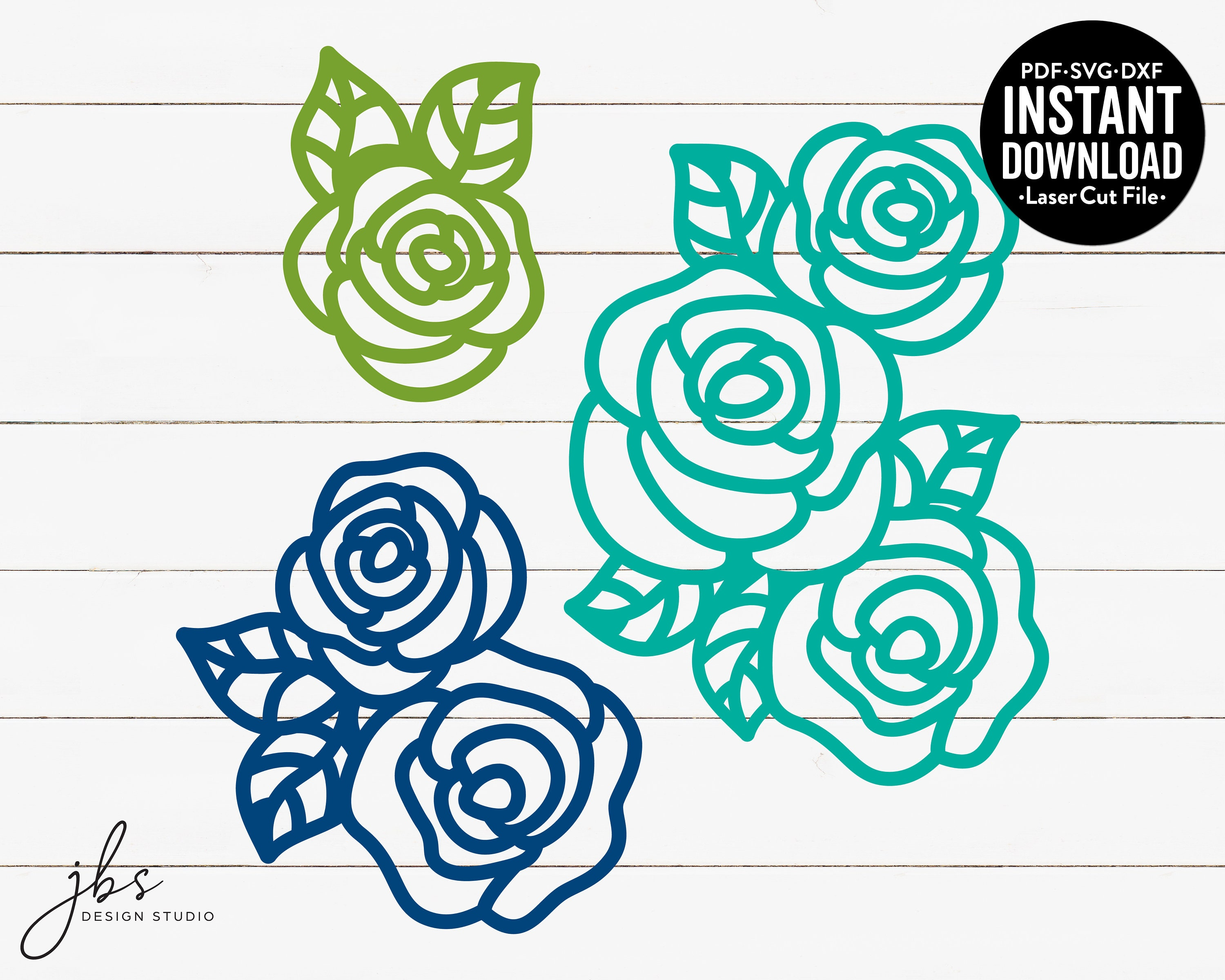 Instant Download Even Busy Bees Stop And Smell The Roses Cut File SVGDXFPDF Laser Cut File