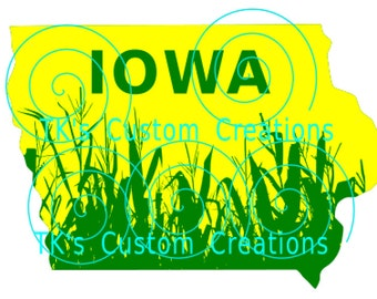 State of Iowa 2 tone