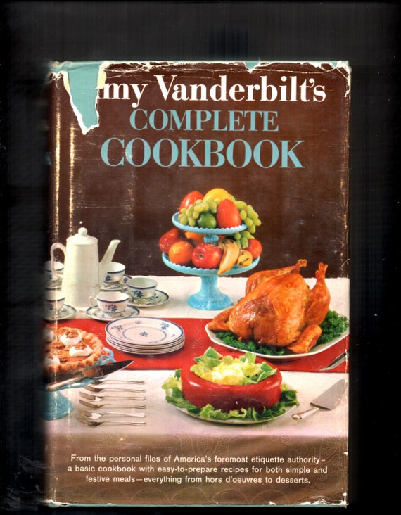 Amy Vanderbilt's Complete Cookbook 1961 Edition Hardcover with Dust Jacket  Illustrations by Andrew/Andy Warhol