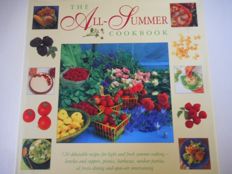 May 1996 1st Edition The All Summer Cookbook Hardcover with image 0