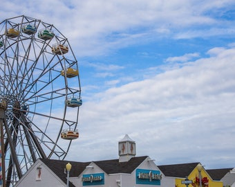 Fine Art Photography Color Print Travel Virginia Beach Oceanfront Beach Park Farris Wheel