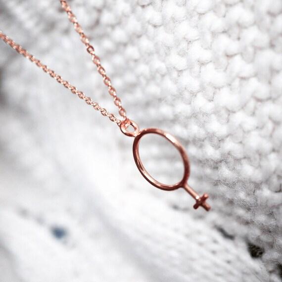 Goddess Necklace Female Symbol Necklace 925 Sterling Silver Etsy
