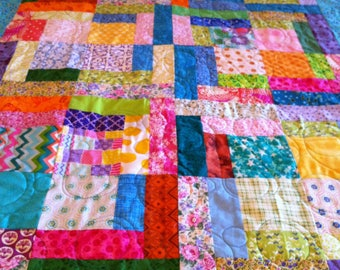 Bright and Cheery Teen/Toddler quilt