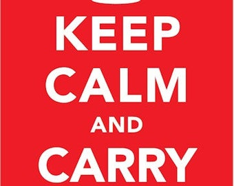 Reproduction World War II Keep Calm & Carry On Poster - A3 [KCPA3]