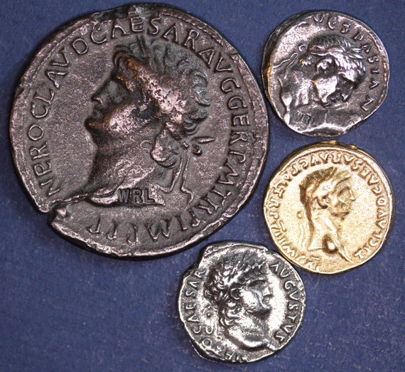 Denarius Aureus 5 REPRODUCTION Roman coins 5MRC Dupondius Nice group