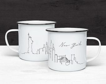 f824088d39c New York Skyline Camp Mug, NY Gift, Campfire Mug, Enamel Coffee Mug, Camping  Mug, Travel Gift, Souvenir Mug