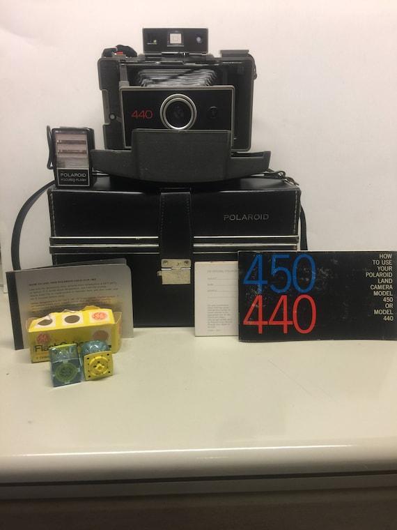 Polaroid 440 camera w/ manual, #193 cold-clip, #532 battery tested.