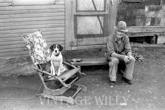 Strange Dog On A Rocking Chair Vintage Photograph Digital Print Instant Download Black And White Wall Photo Print Cottage Decor Rare Old Squirreltailoven Fun Painted Chair Ideas Images Squirreltailovenorg