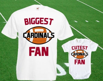 abbbf01a7f2d Cardinals baby DOUBLE Cardinals Fan shirt t-shirt customized bodysuit Funny  Arizona baby Child boy Clothing Kid s girl Tops Football Toddler