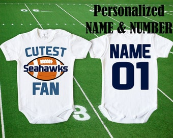 Seahawks Baby body Cutest Seahawks Fan customized personalized NAME NUMBER  One Piece Bodysuit Funny Baby Child boy Clothing Kid s Shower Top 760327735