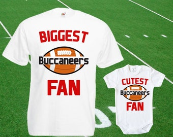 eaa29d9ca Buccaneers baby DOUBLE Buccaneers Fan shirt t-shirt customized bodysuit  Funny Tampa Bay baby Child boy Clothing Kid s Shower Tops Football