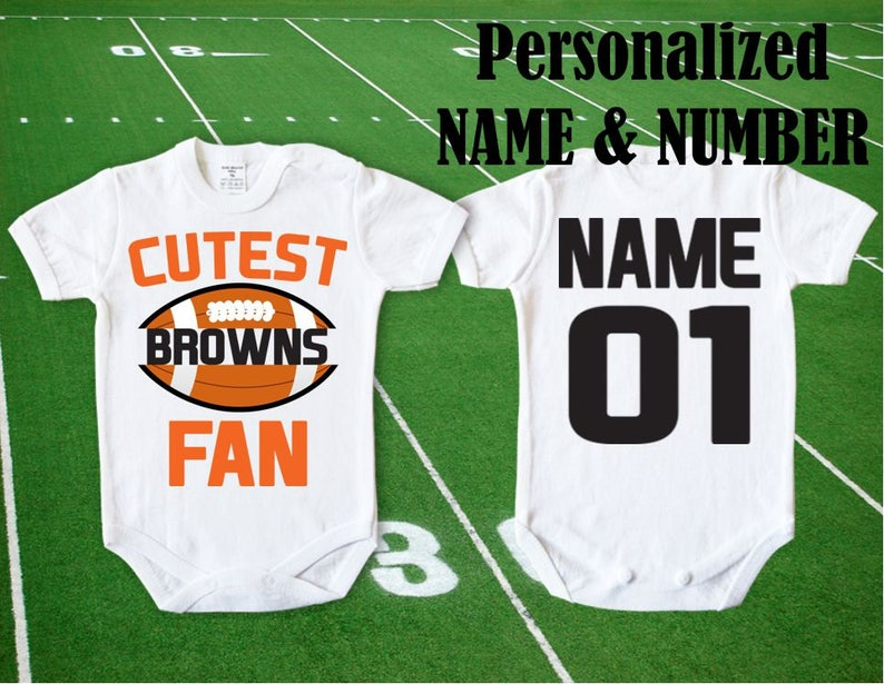 Browns Baby Cutest Browns Fan body customized personalized NAME NUMBER One Piece Bodysuit Funny Child boy Clothing Kid/'s Shower Toddler Top