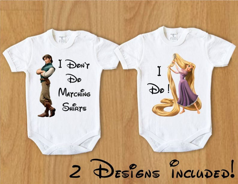 5329ef1bf08 Baby Body I Don t Do Matching Shirts I Do Rapunzel 1 Funny Disney Couple  Bodysuit Disney Couple Tangled Family Baby Shirts Personalized Top