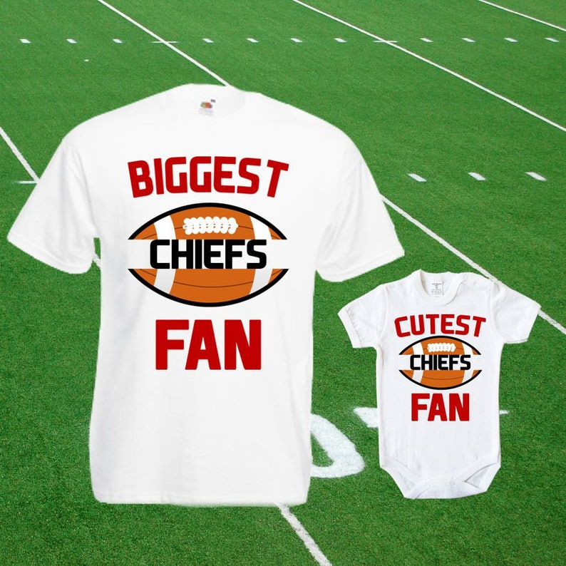 new arrival 2aa87 9916a Chiefs baby DOUBLE Chiefs Fan shirt t-shirt customized bodysuit Funny  Kansas City baby Child boy Clothing Kid's Top Football Shower Toddler