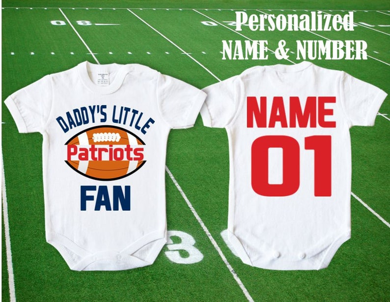 Patriots Baby Daddy s little Patriots fan customized  488a4bbae