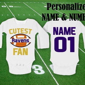Ravens Baby body Cutest Ravens Fan customized personalized | Etsy