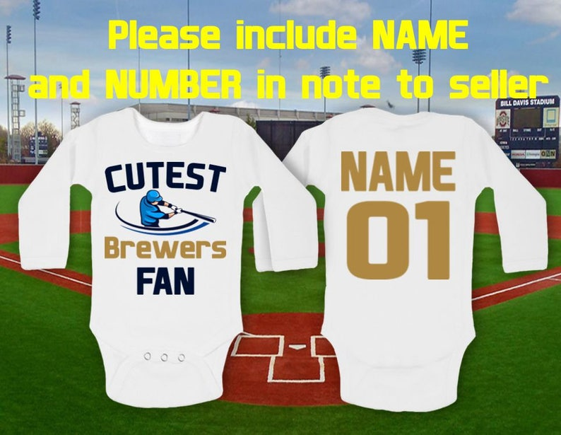 6830c3aa005 Brewers Bodysuit Cutest fan Brewers Baby customized