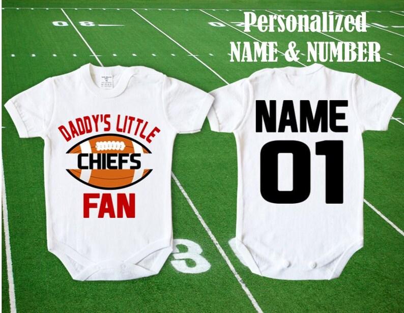 bd4e8852e8b Chiefs Baby Daddy s little Chiefs Fan customized
