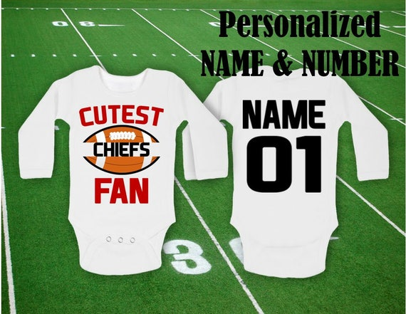21a4b9f9815 Chiefs Bodysuit Cutest Chiefs Fan Baby body customized