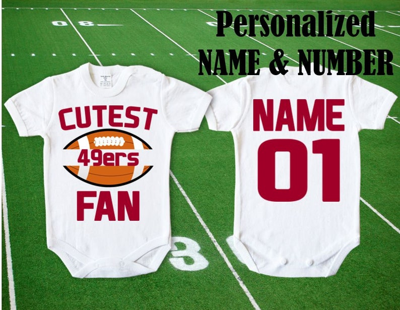 09f150cbe3b 49ers Baby Cutest 49ers Fan customized personalized NAME   Etsy