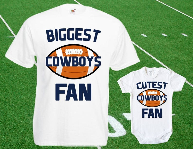 best sneakers 7dfbb addb2 Dallas Cowboys baby DOUBLE Cowboys Fan shirt t-shirt customized bodysuit  Funny Dallas baby Clothing Kid's Top Football Shower Toddler Top