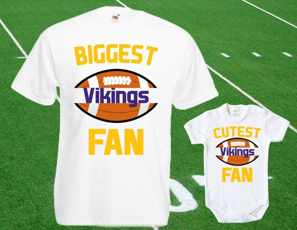 new products 47d21 e272f Vikings baby DOUBLE Vikings Fan shirt t-shirt customized bodysuit Funny  Minnesota baby Child boy Clothing Kid's Top Football Shower Toddler