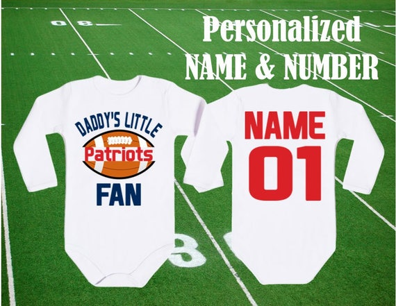 Patriots Custom Personalized Name /& Number Infant or Toddler T-shirt