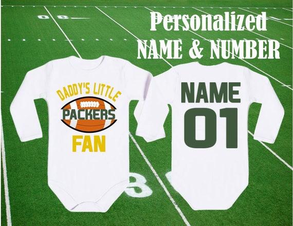 0f5ee61ad Packers Bodysuit Daddy s little Packers Fan customized