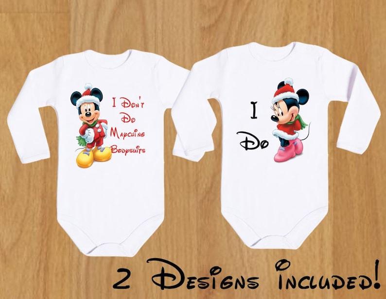 Baby I Don/'t Do Matching Shirts I Do Mickey 1 Funny Disney Body Couple Bodysuit Disney Couple Disney Family Baby Shirts Personalized Party