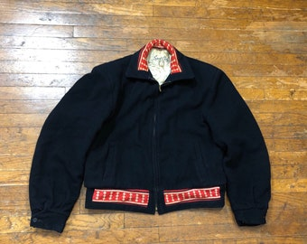 1940s SportChief Ski Jacket  40s wool winter ski coat