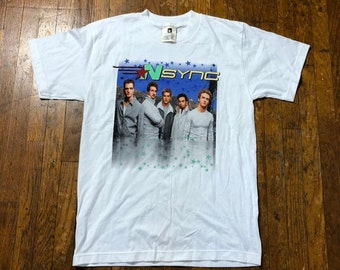 714b9fbe450 90s Nsync Tour Tee Vintage 1990s Nsync Concert T-shirt 90s Boy Band Tee