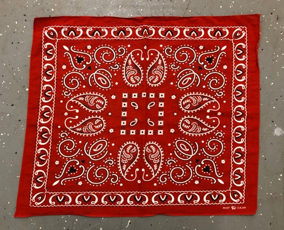 Red  Trunk down Bandana Vintage Red 30s Selvedge B