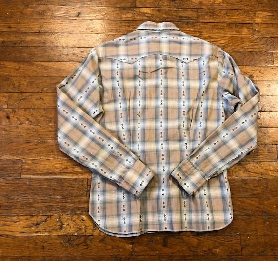 50s Levis Big E Western Wear Shirt 1950s Big E Da… - image 2