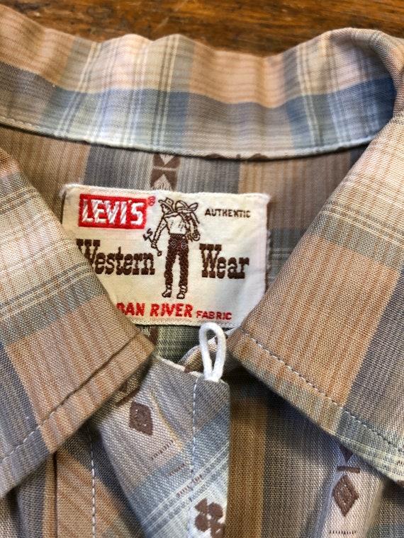 50s Levis Big E Western Wear Shirt 1950s Big E Da… - image 4