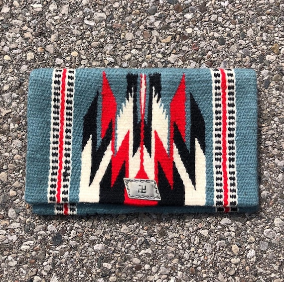 1930s whirling log Chimayo Clutch Purse 30s Nativ… - image 1