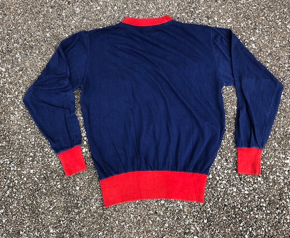 1950s Long Sleeve Two Tone T-shirt 50s Pocket T-s… - image 2