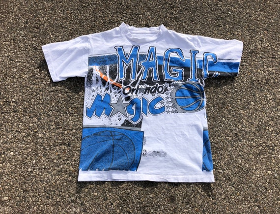 90s Orlando Magic NBA Tee.  1990s Orlando Magic Ba